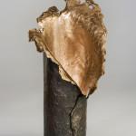 Graphite & Gold (Vase)
