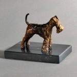 Airedale/Welsh Terrier: a Cast Wax Sketch