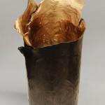 Golden Brown Vase (short)
